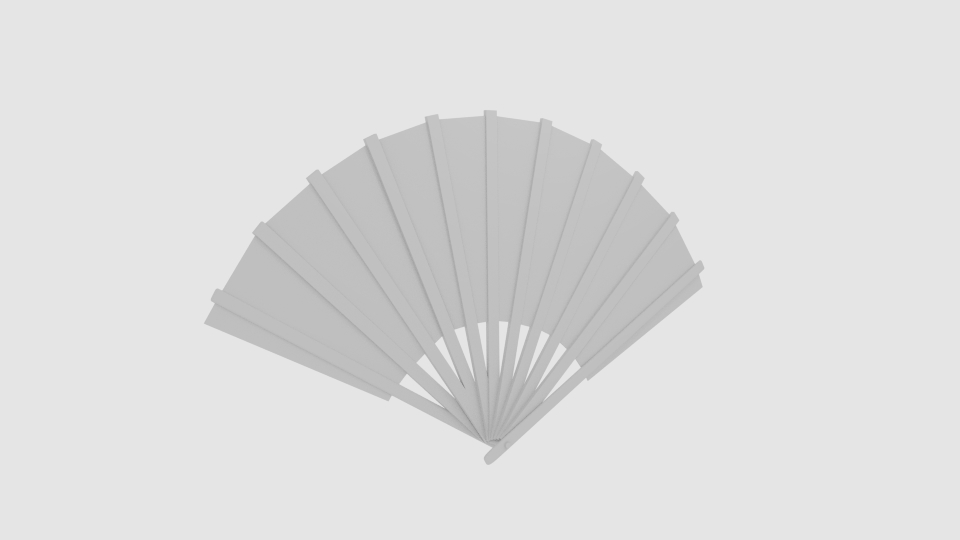 japanese fan bokashi 3d model blend 252596