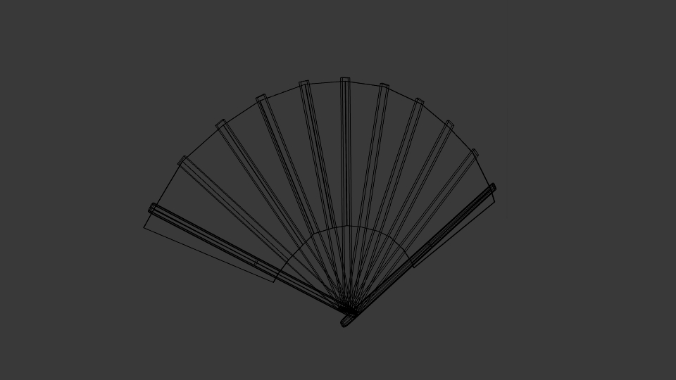japanese fan bokashi 3d model blend 252597
