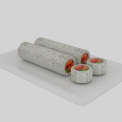 Cylinder Sushi Sliced  ( 76.94KB jpg by banism24 )
