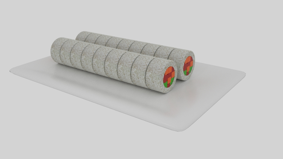 rice roll sushi 3d model blend 252624