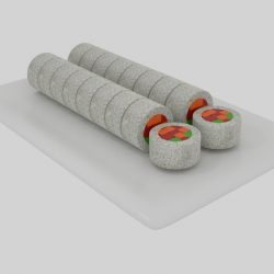 Rice Roll Sushi Sliced  ( 93.08KB jpg by banism24 )