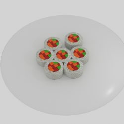 Rice Roll Sushi Platter  ( 86.9KB jpg by banism24 )