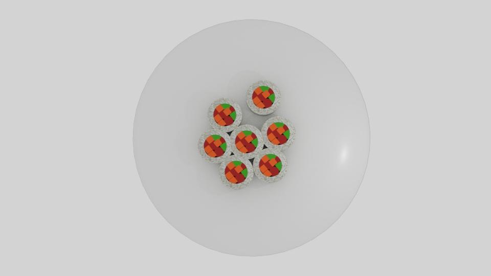rice roll sushi platter 3d model blend 252639