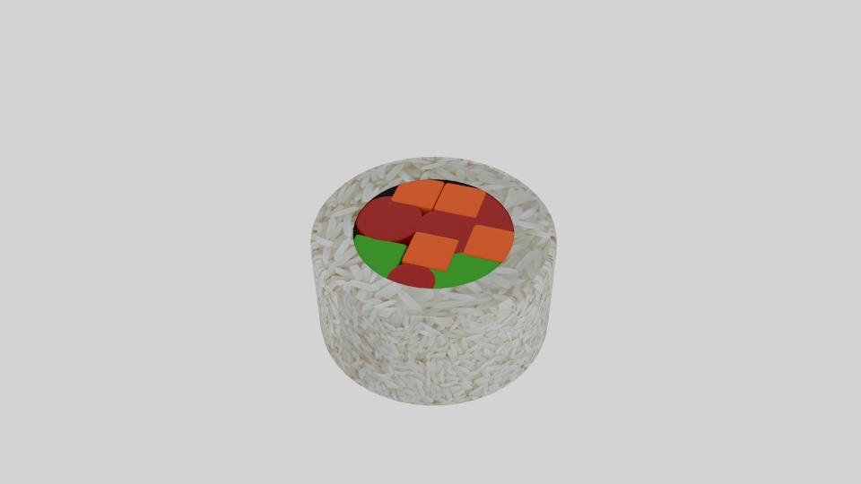 rice roll sushi platter 3d model blend 252641