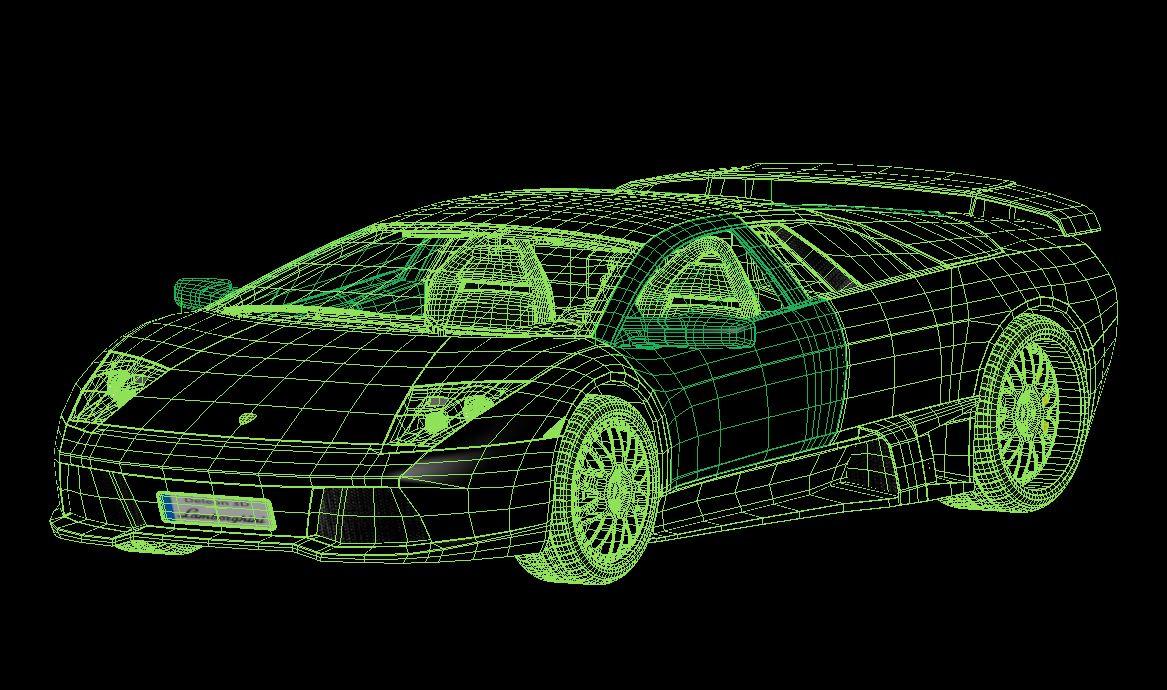 lamborghini murcielago car 3d model max fbx jpeg jpg lxo  obj 252787