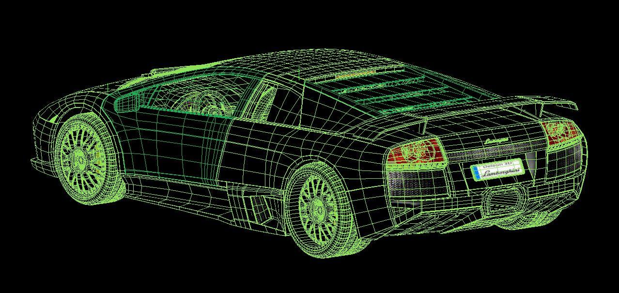 lamborghini murcielago car 3d model max fbx jpeg jpg lxo  obj 252788