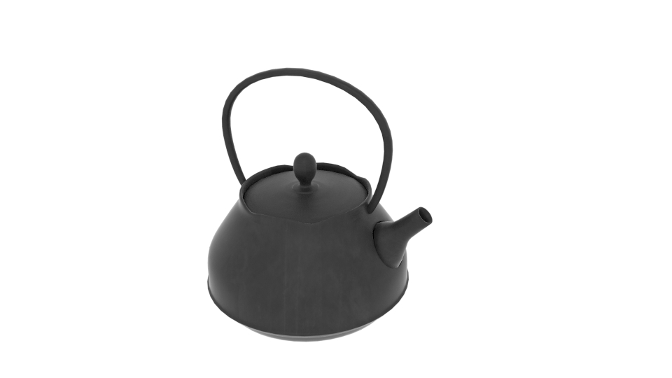 Japanese Art Teapot 3d model blend 252790