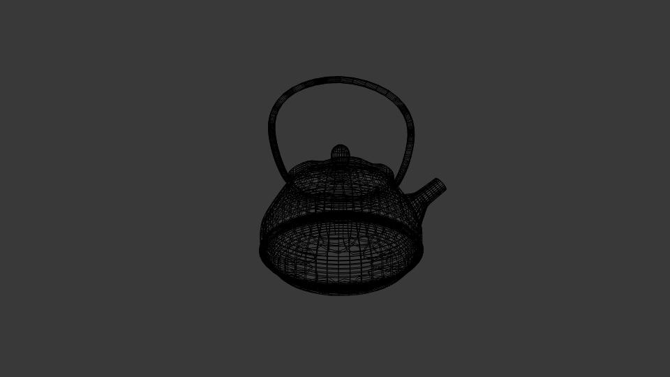 japanese art teapot 3d model blend 252795