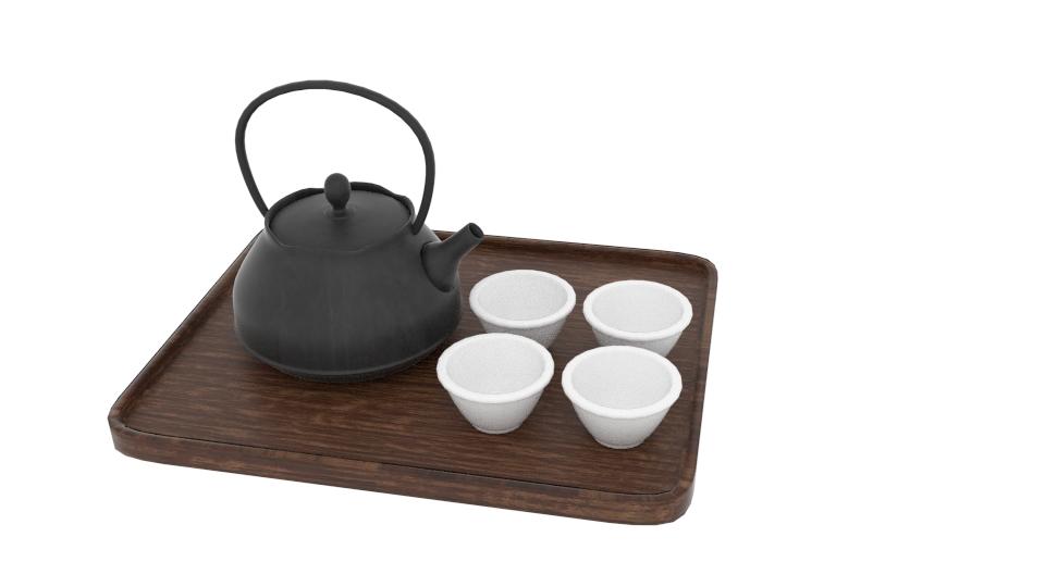јапонски чајџилница за уметност постави 3d модел мешавина 252797