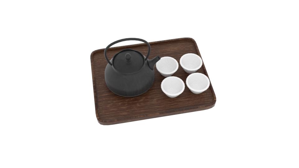 japanese art teapot set 3d model blend 252799
