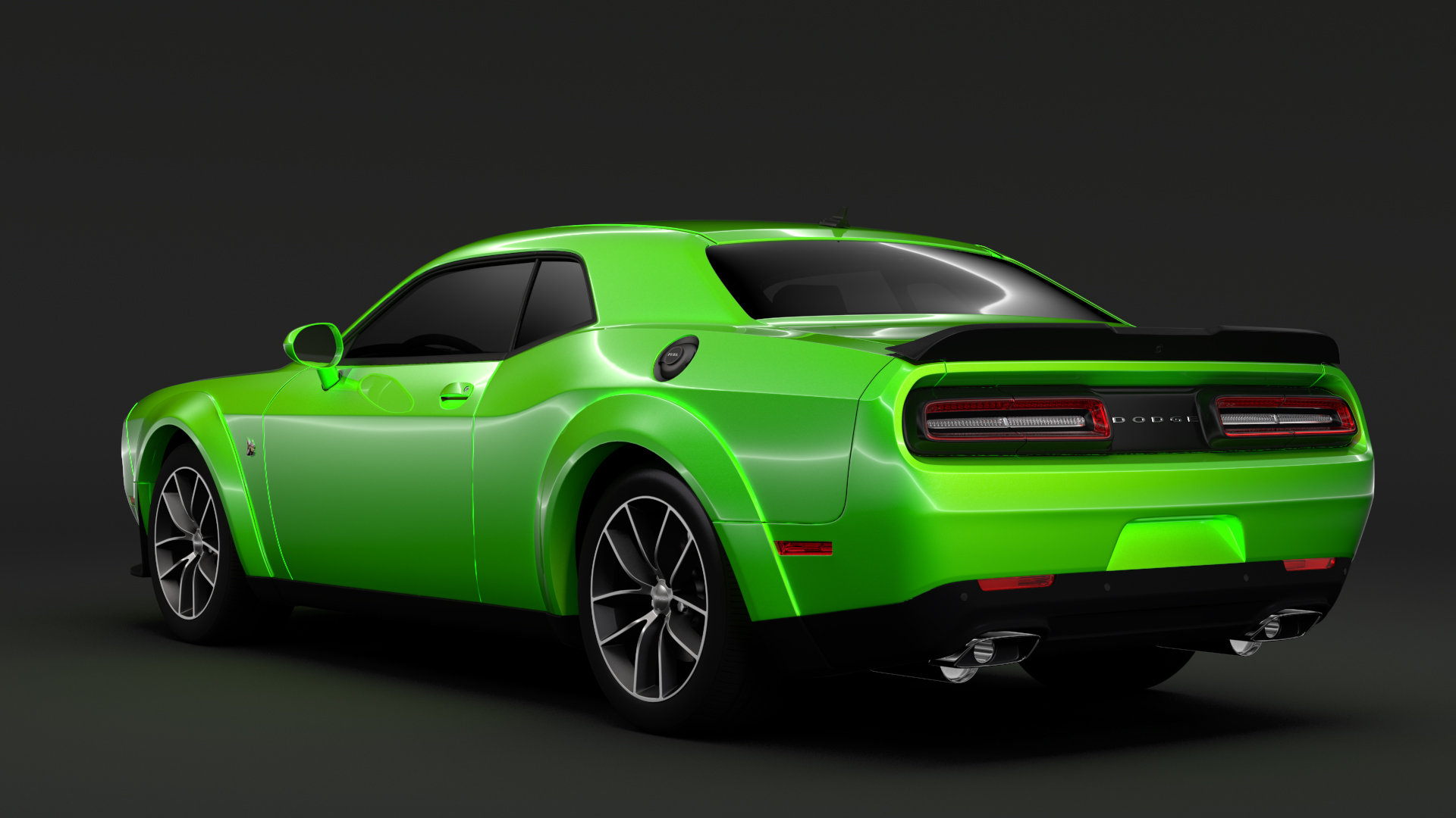 dodge challenger 392 hemi scat pack shaker widebod 3d model buy dodge challenger 392 hemi scat. Black Bedroom Furniture Sets. Home Design Ideas