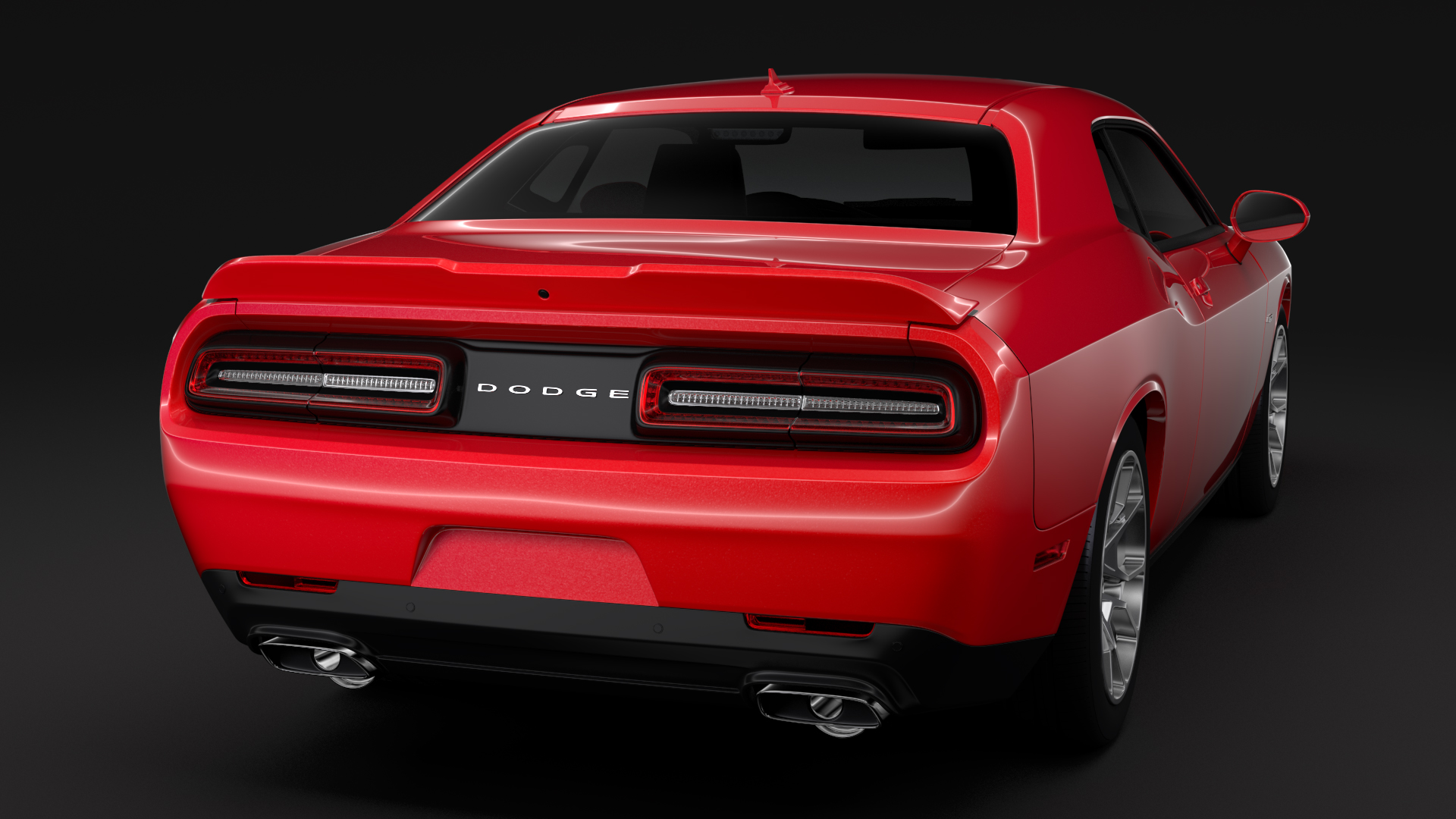 dodge challenger gt awd 2017 3d model buy dodge challenger gt awd 2017 3d model flatpyramid. Black Bedroom Furniture Sets. Home Design Ideas
