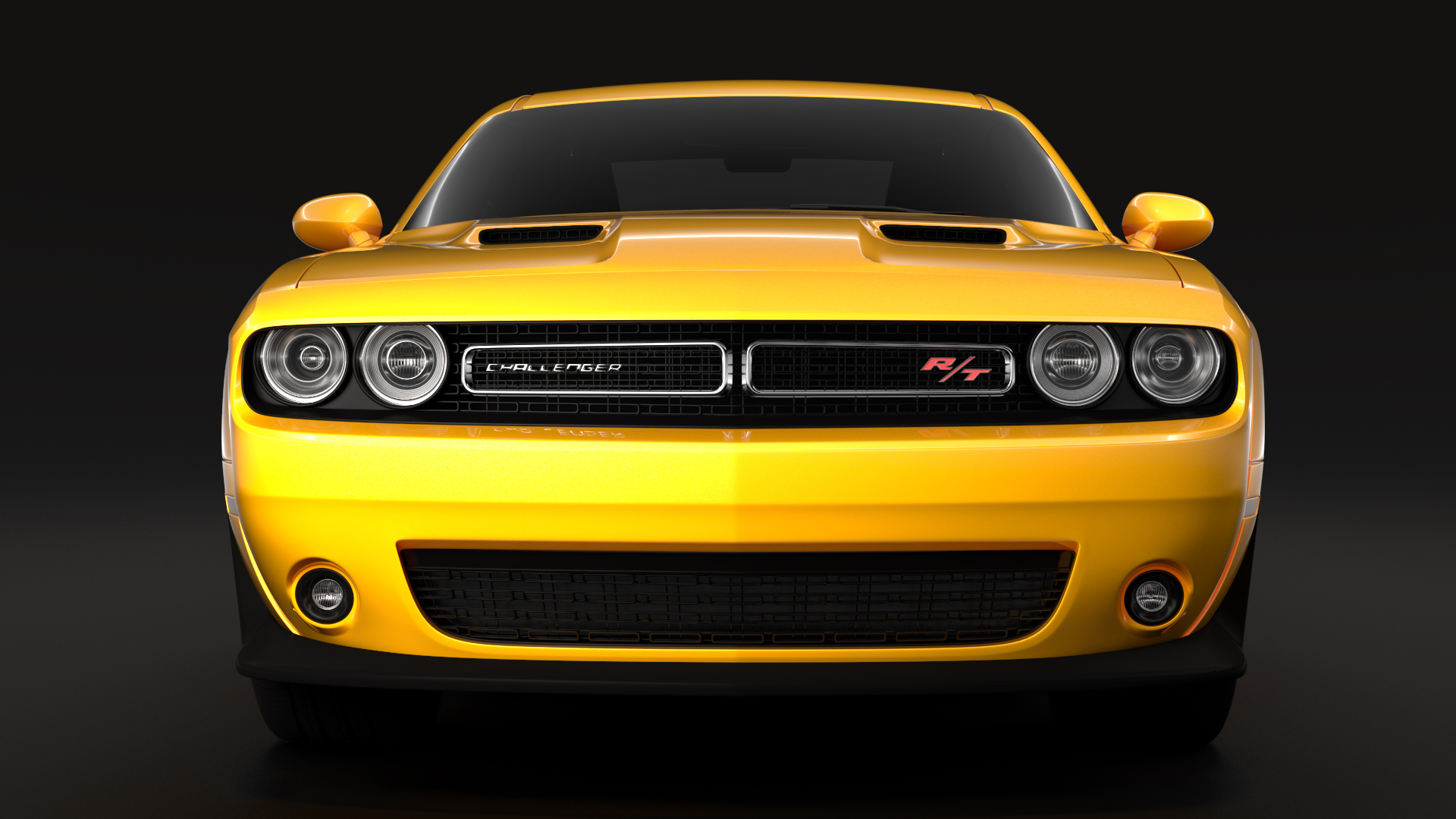 dodge challenger rt scat pack widebody 2017 3d model flatpyramid. Black Bedroom Furniture Sets. Home Design Ideas