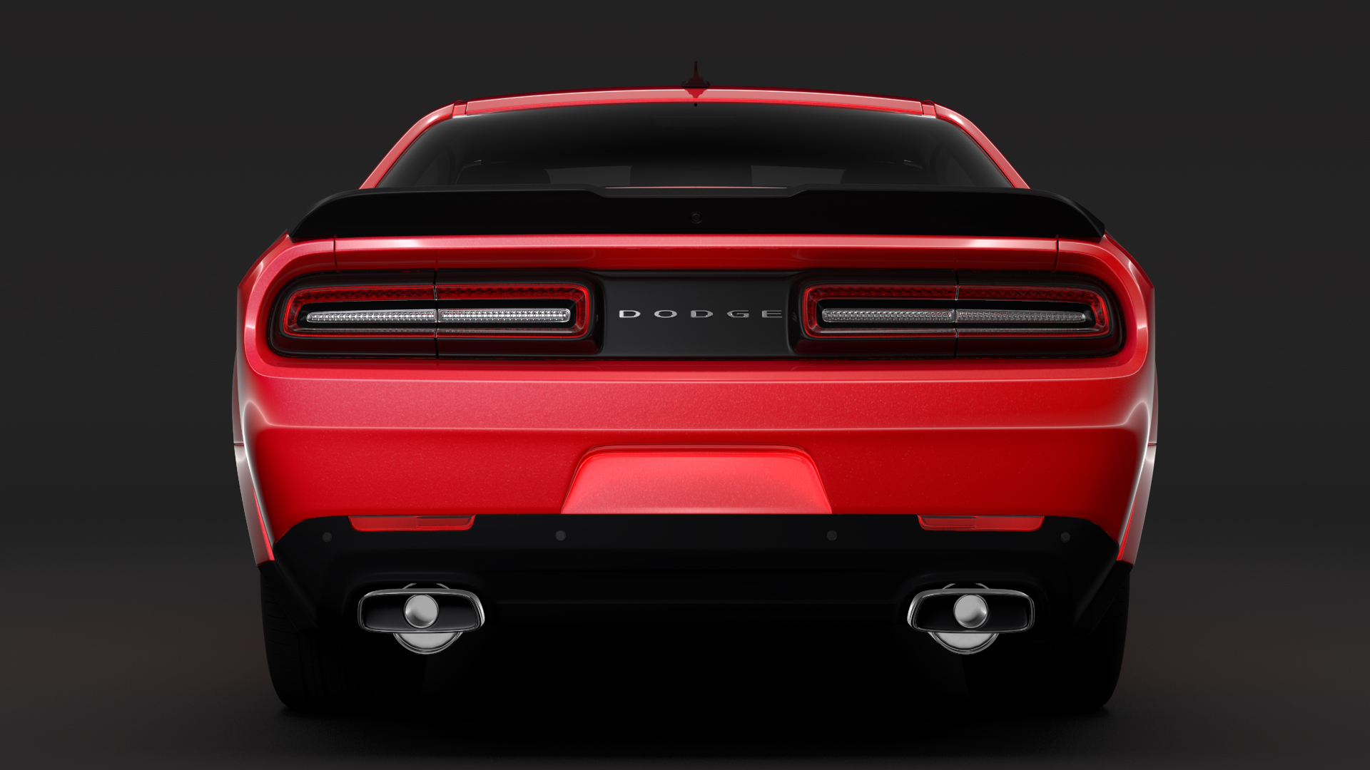 Dodge Challenger Rt Shaker Widebody 2017 3d Model Buy