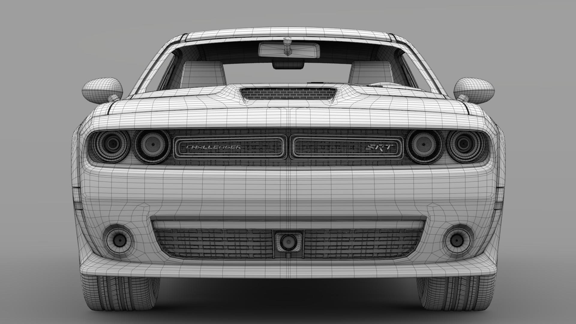 Dodge Challenger srt widbody 2017 3d model 3ds max fbx c4d ar gyfer yr hrc xsi obj