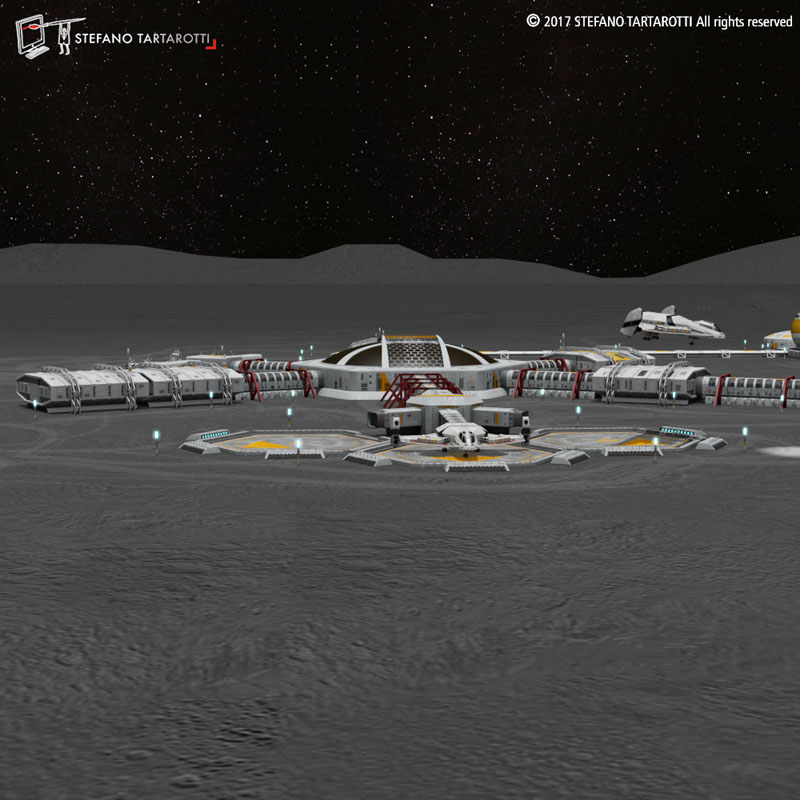 Moon or Mars base