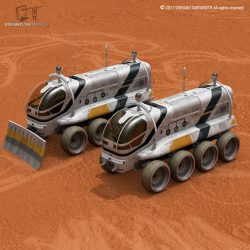 Moon or Mars rover 2017 3d model 0