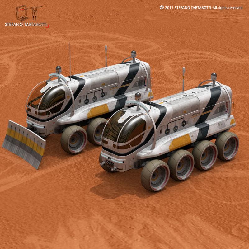 Moon or Mars rover 2017 3d model 3ds dxf fbx c4d obj 253049