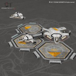 Sci-fi exploration flyer 3d model 3ds dxf fbx c4d obj