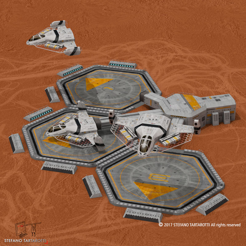sci-fi exploration flyer 3d model 3ds dxf fbx c4d obj 253061