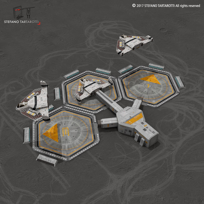 sci-fi exploration flyer 3d model 3ds dxf fbx c4d obj 253062