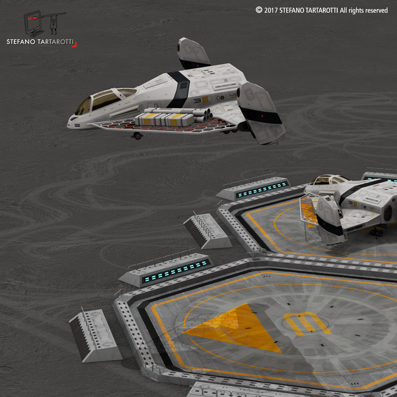 sci-fi exploration flyer 3d model 3ds dxf fbx c4d obj 253065