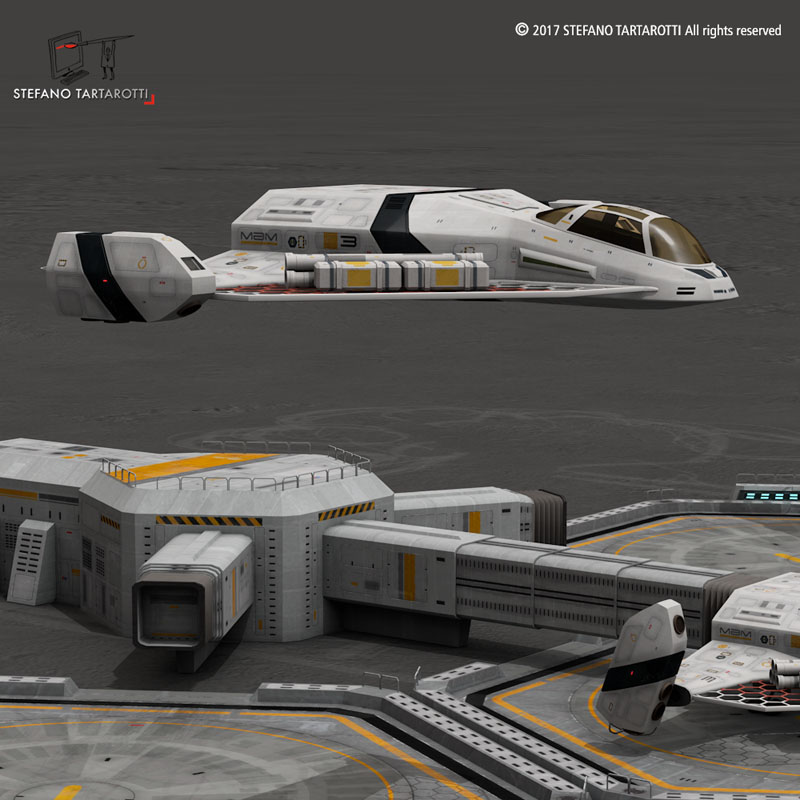 sci-fi exploration flyer 3d model 3ds dxf fbx c4d obj 253066