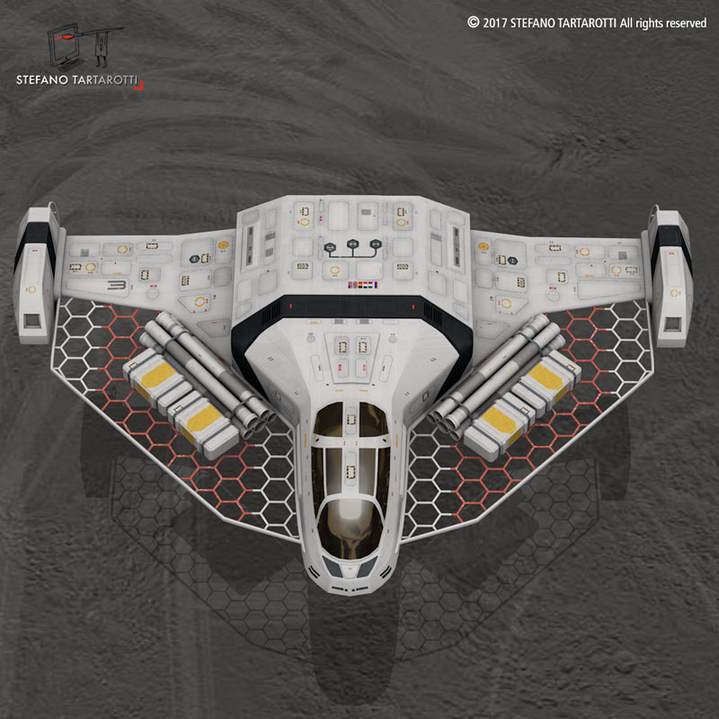 sci-fi exploration flyer 3d model 3ds dxf fbx c4d obj 253067