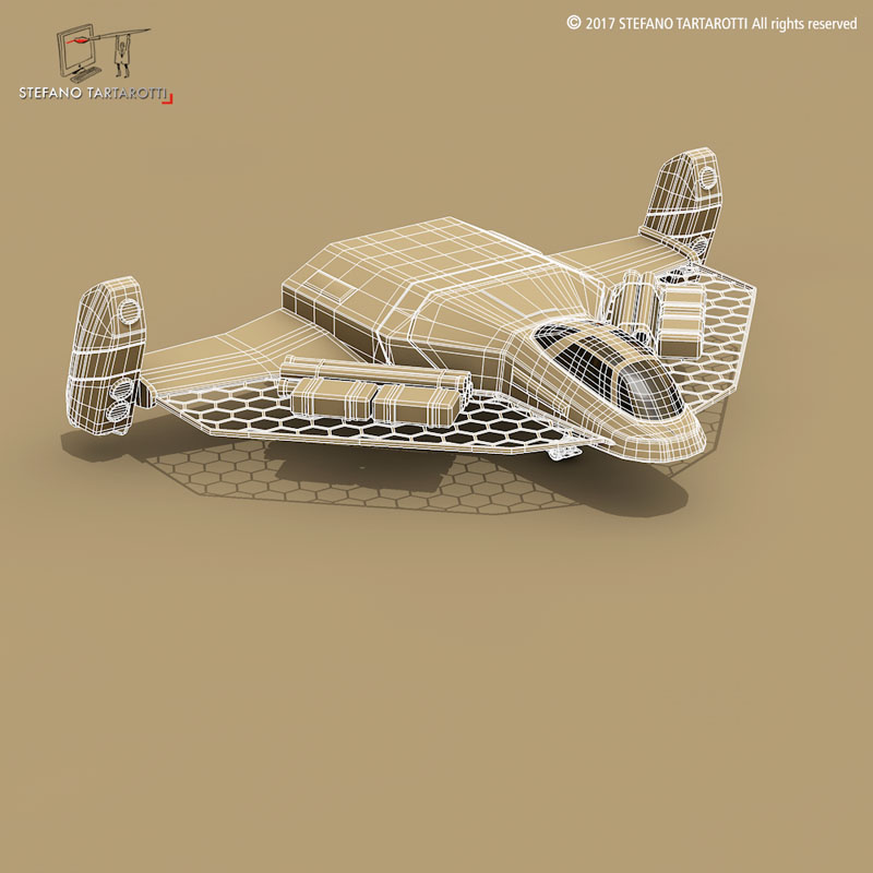 sci-fi exploration flyer 3d model 3ds dxf fbx c4d obj 253069