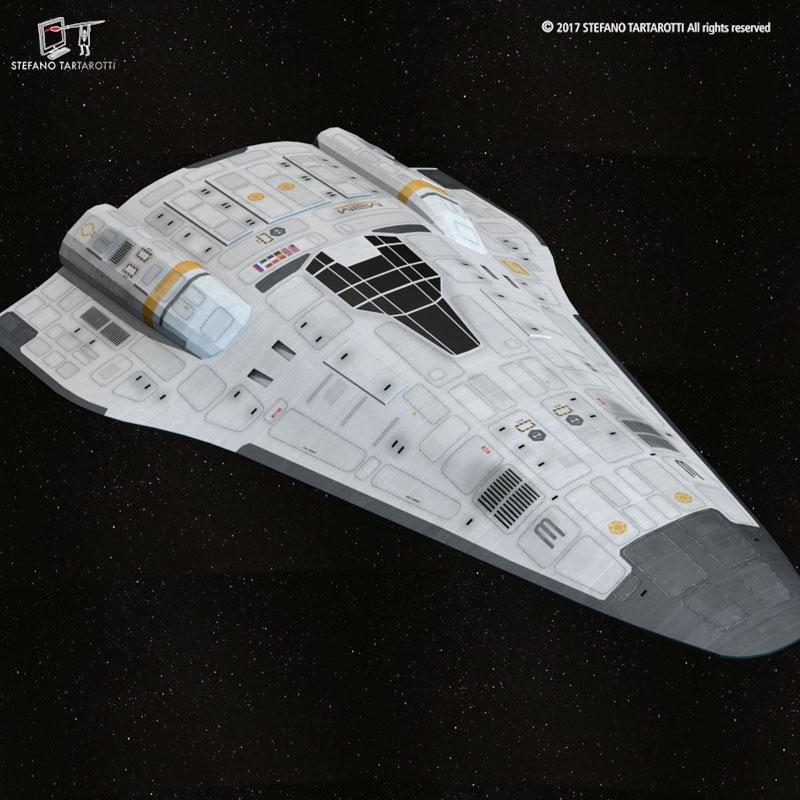Stargate with sci-fi shuttle 3d model 3ds dxf fbx c4d obj 253074