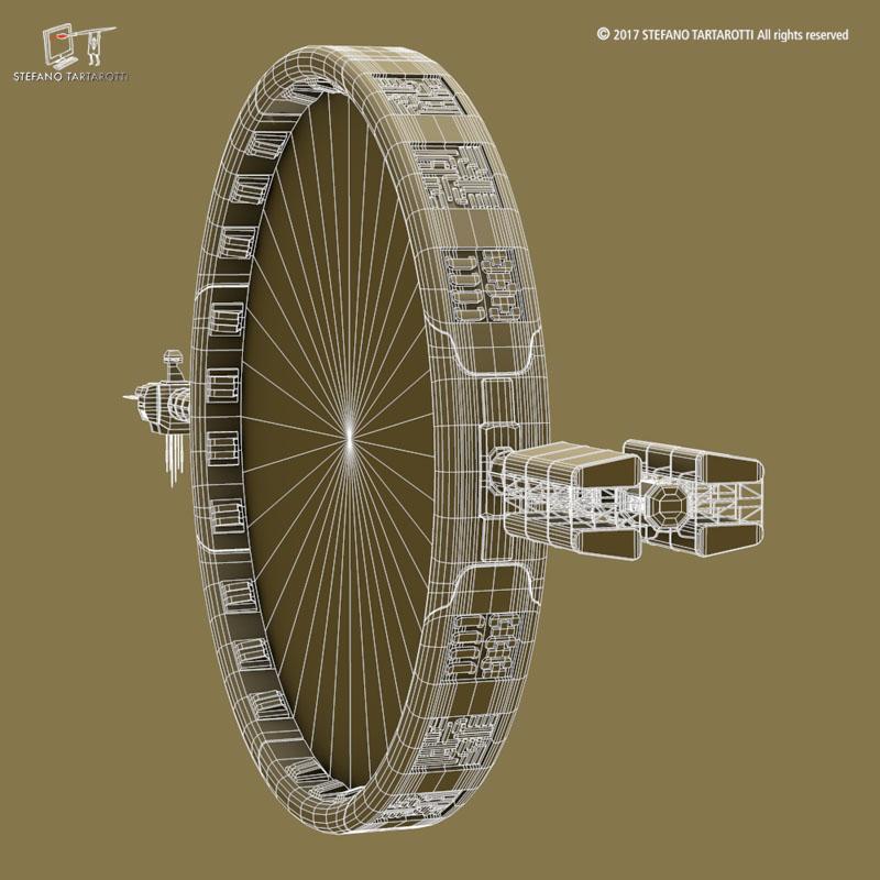 Stargate with sci-fi shuttle 3d model 3ds dxf fbx c4d obj 253078