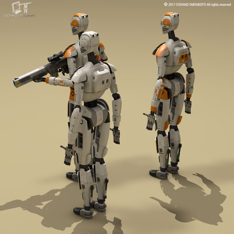 Sci-fi droid ( 97.73KB jpg by tartino )