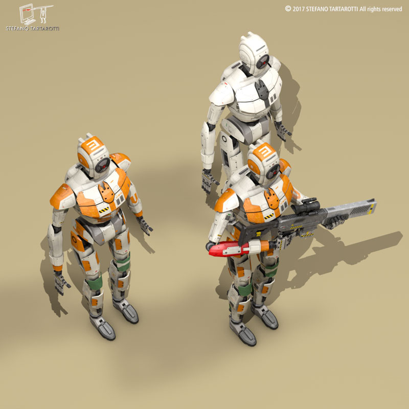Sci-fi droid ( 95.17KB jpg by tartino )