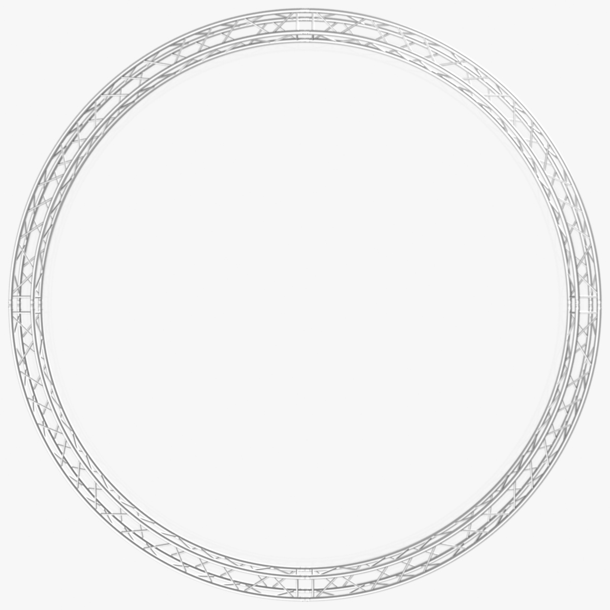 circle square truss (full diameter 600cm) 3d model 3ds max dxf fbx c4d dae  obj 253096