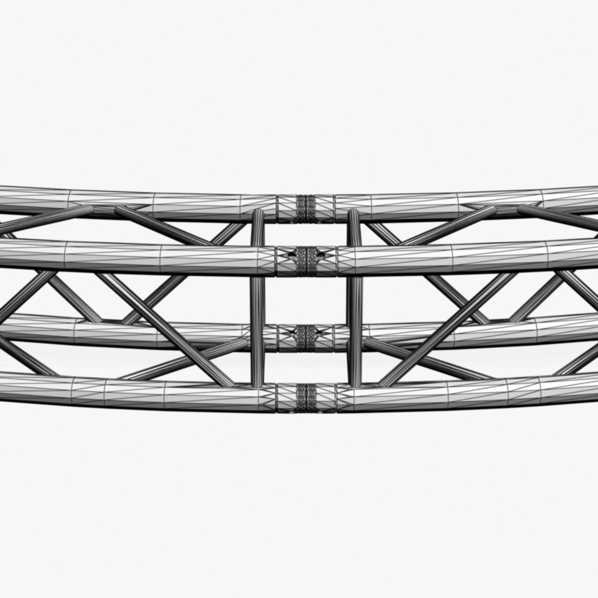 circle square truss (full diameter 600cm) 3d model 3ds max dxf fbx c4d dae  obj 253106