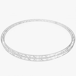 Circle Square Truss (Full diameter 800cm) 3d model 0