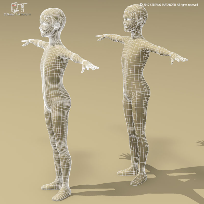 stylized boy 3d model 3ds dxf fbx c4d dae obj 253151