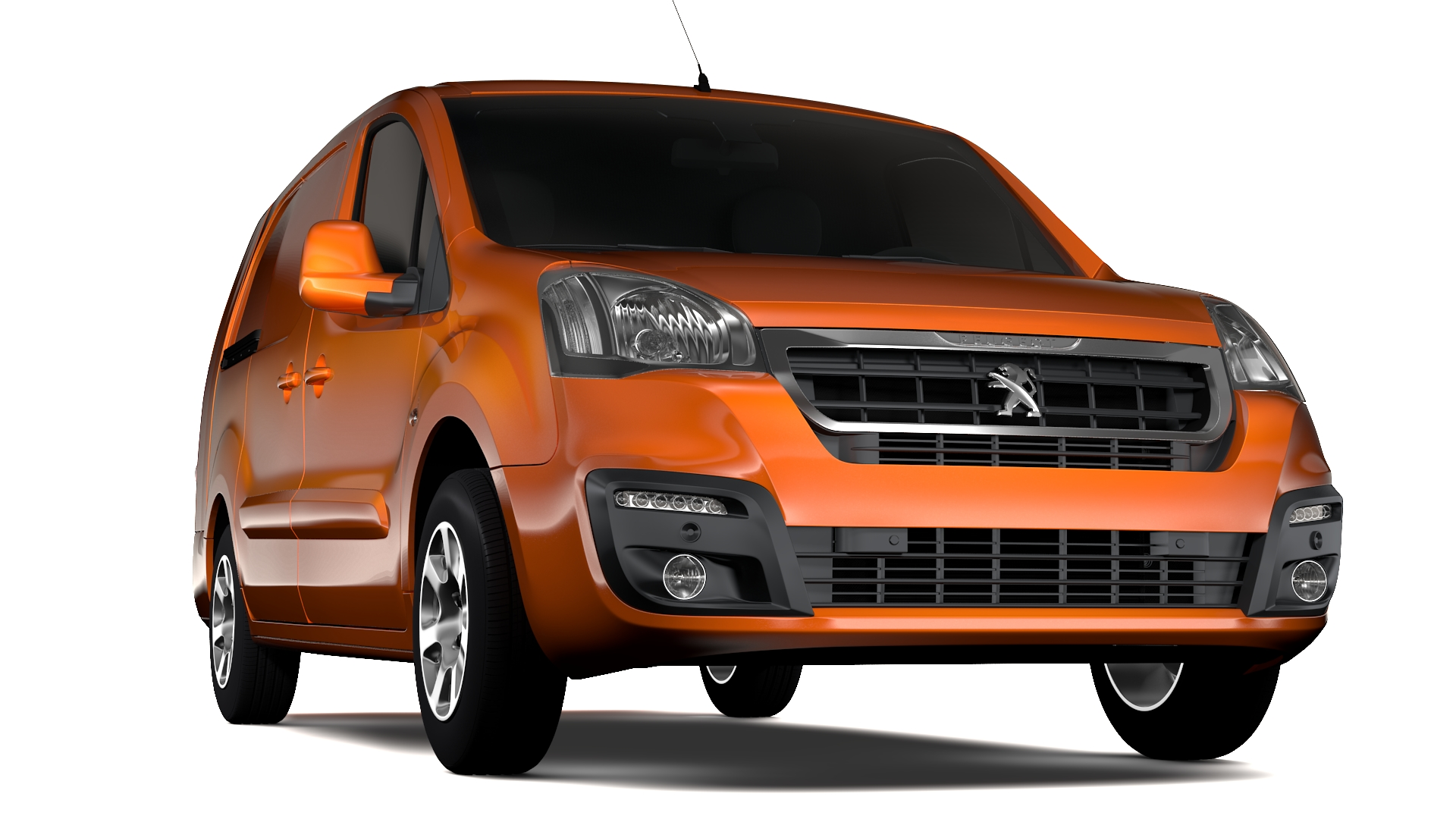peugeot partner van l2 2017 3d model 3ds max fbx c4d