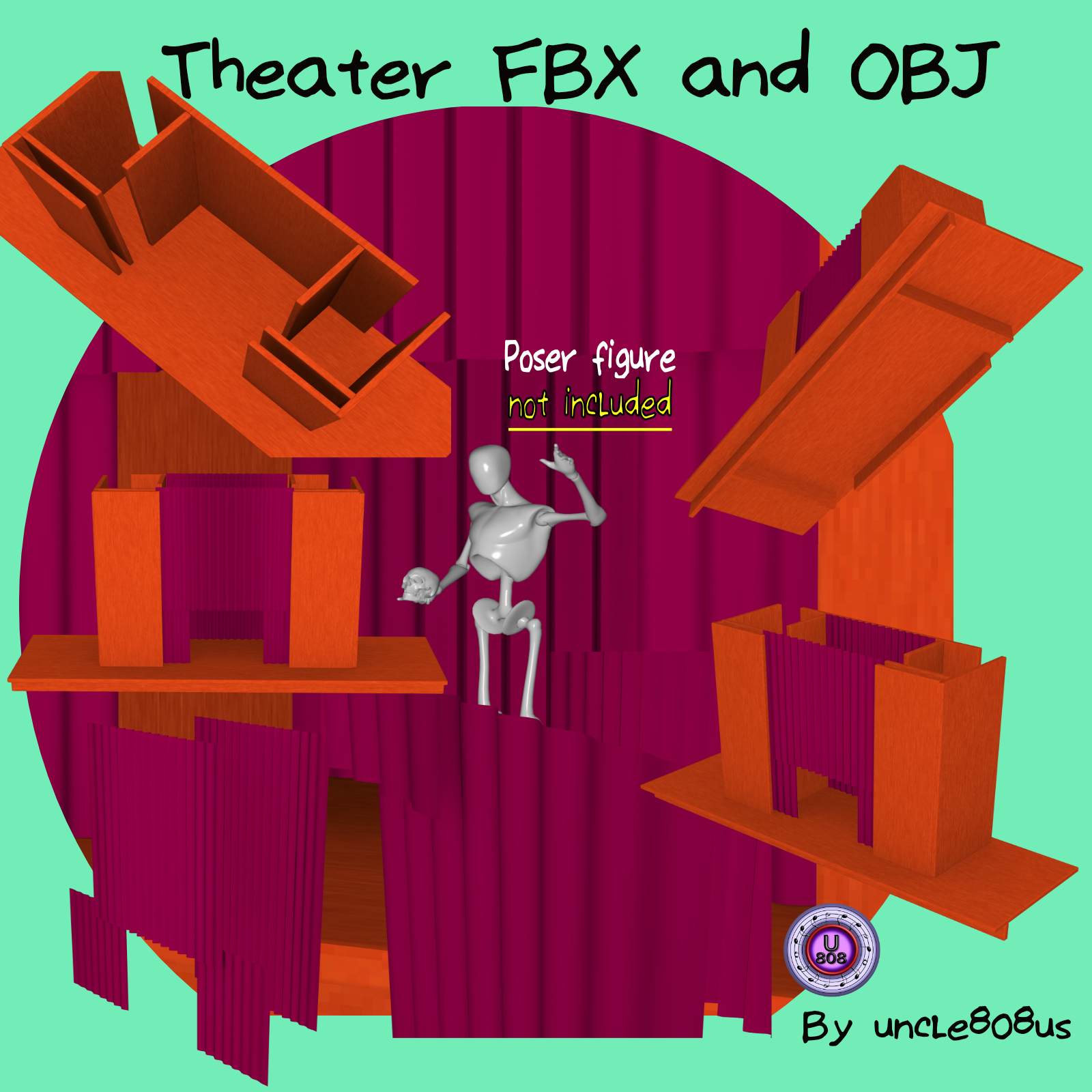 theater stage fbx and obj 3d model fbx 263294