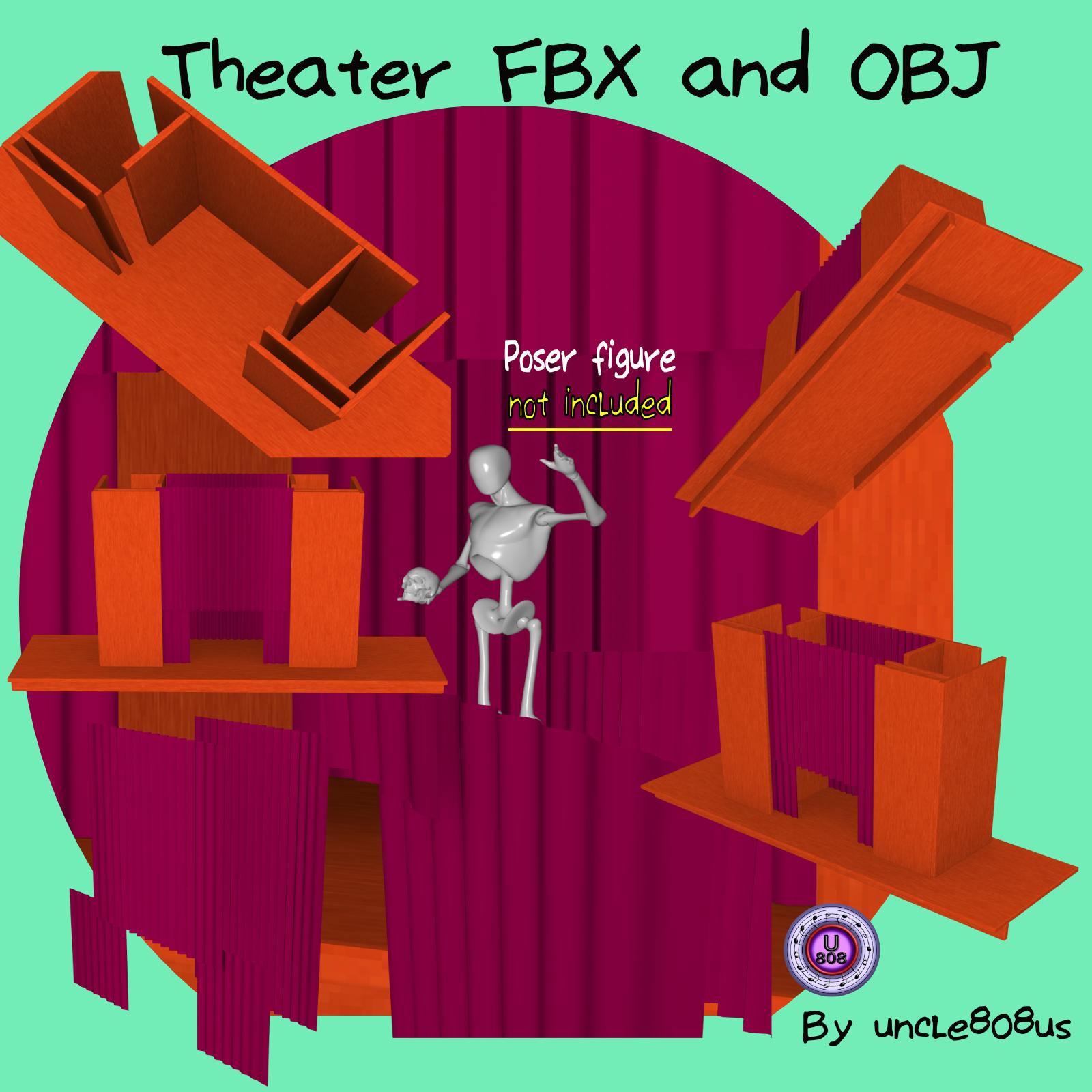 театрын үе шат fbx болон obj 3d загвар fbx 263294