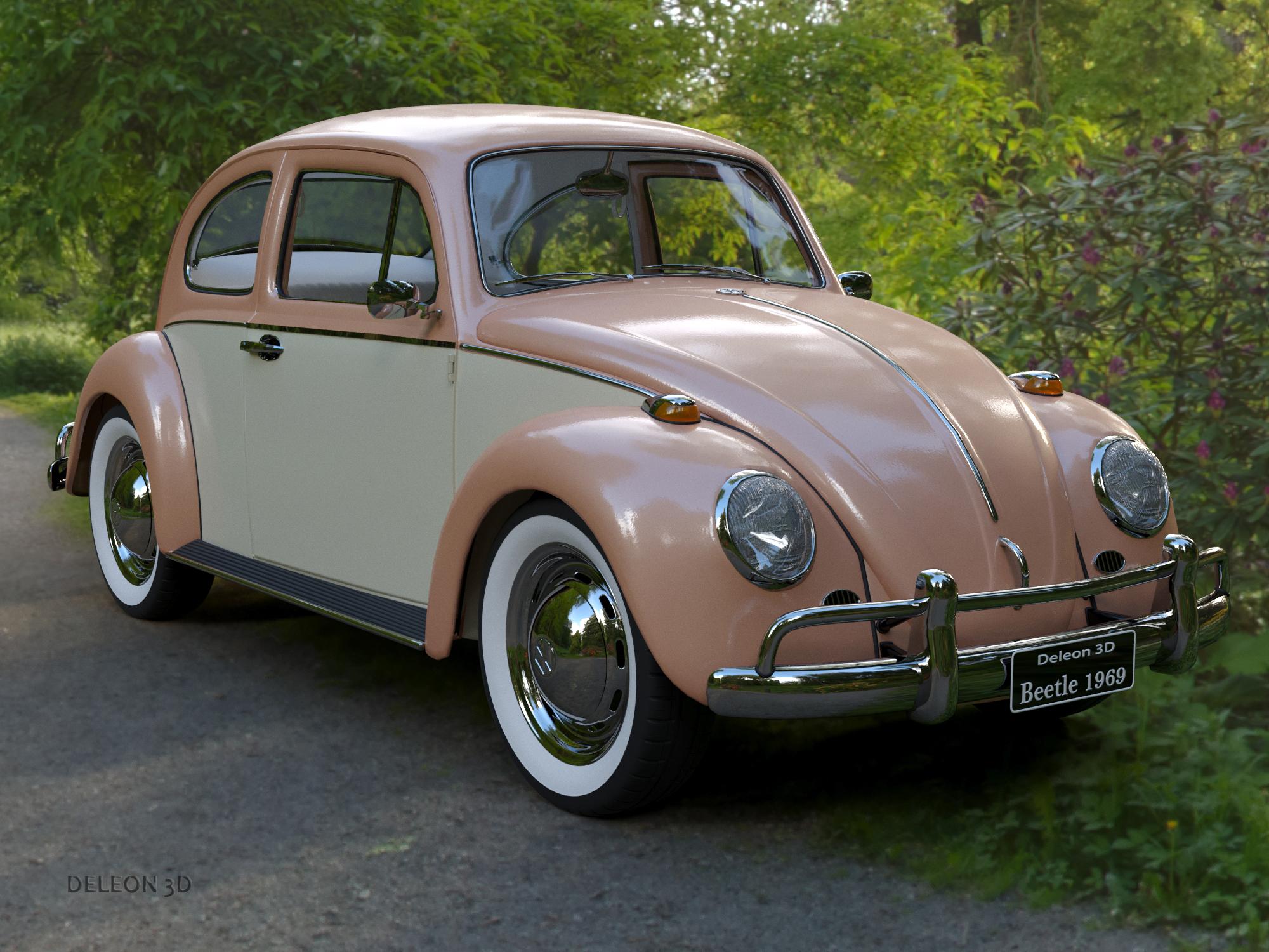 volkswagen beetle fusca model 1969 3d model max c4d lxo ma mb tekstura obj 263356