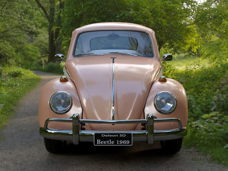 volkswagen beetle fusca 1969 3d model max c4d lxo ma mb  texture obj 263367