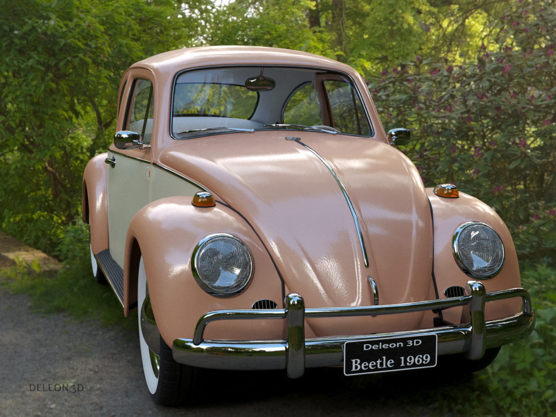 volkswagen beetle fusca 1969 3d model max c4d lxo ma mb  texture obj 263368