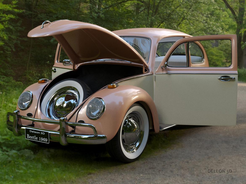 volkswagen beetle fusca 1969 3d model max c4d lxo ma mb  texture obj 263369