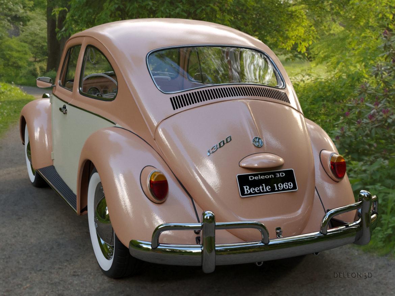volkswagen beetle fusca 1969 3d model max c4d lxo ma mb  texture obj 263372