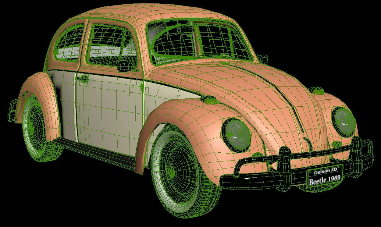 volkswagen beetle fusca 1969 3d model max c4d lxo ma mb  texture obj 263379