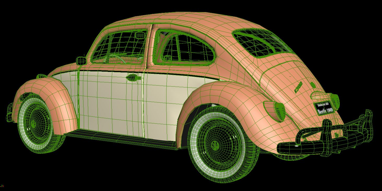 volkswagen beetle fusca 1969 3d model max c4d lxo ma mb  texture obj 263380