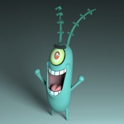 Plankton 3d model. 3d model high poly 3d printing