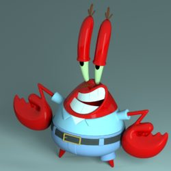 Mr. Krabs - Sirigueijo 3d model 0