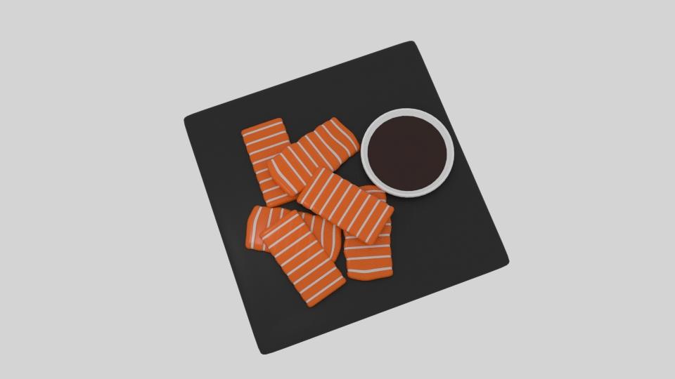lax sashimi 3d líkan blanda 263523